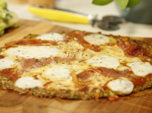 pizza de brócolis