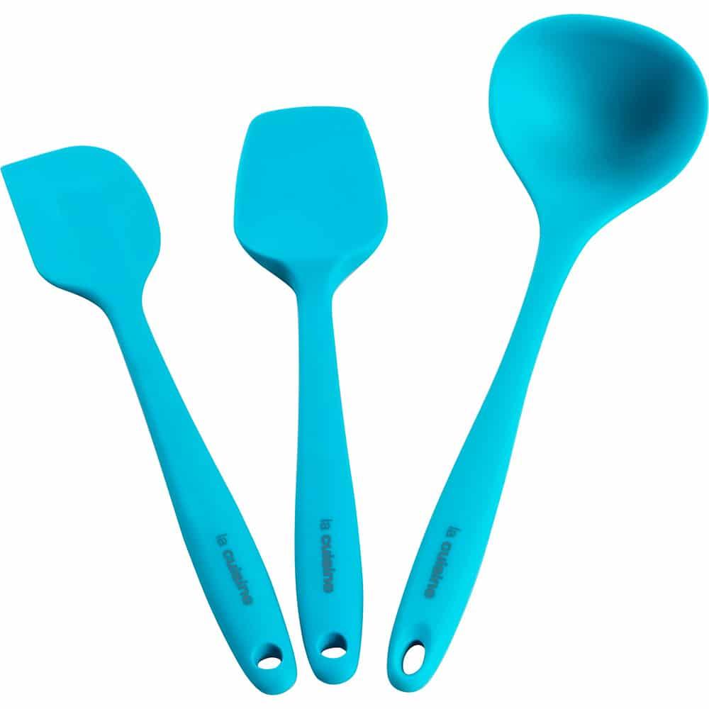 Conjunto-de-Utensílios-de-Silicone-3-Peças-Azul-La-Cuisine