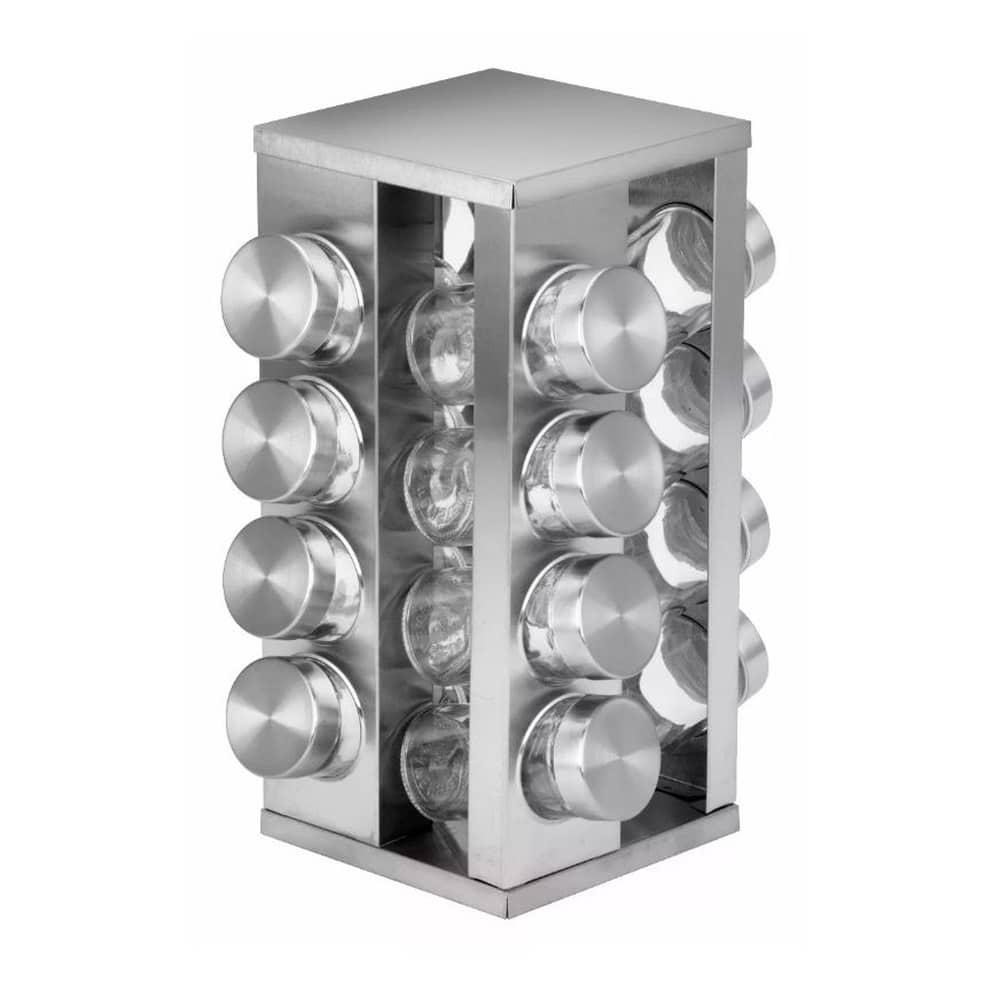 Porta-Tempero-Condimento-16-Potes-Suporte-Base-Giratória