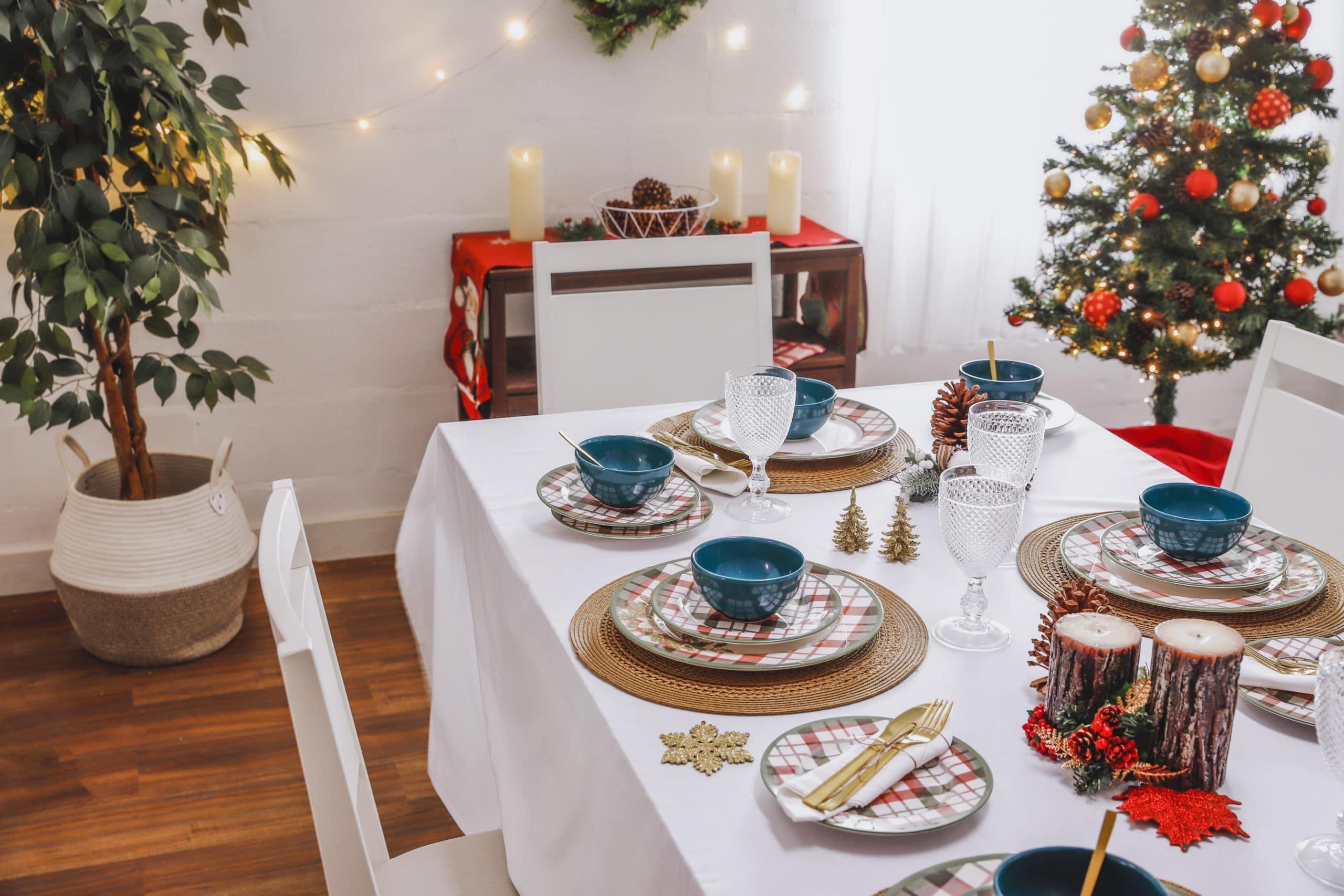 aparelho de jantar e refratários natalinos