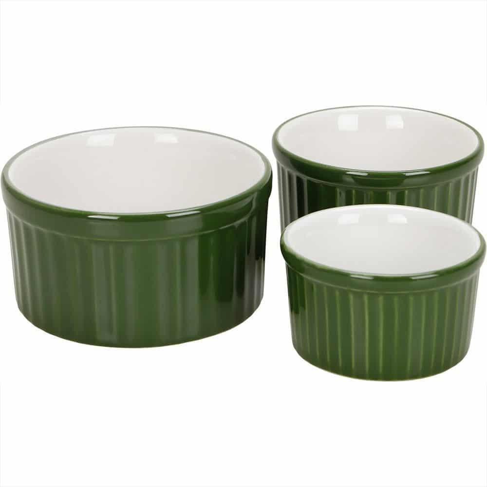 jogo de refratários ramequim verde