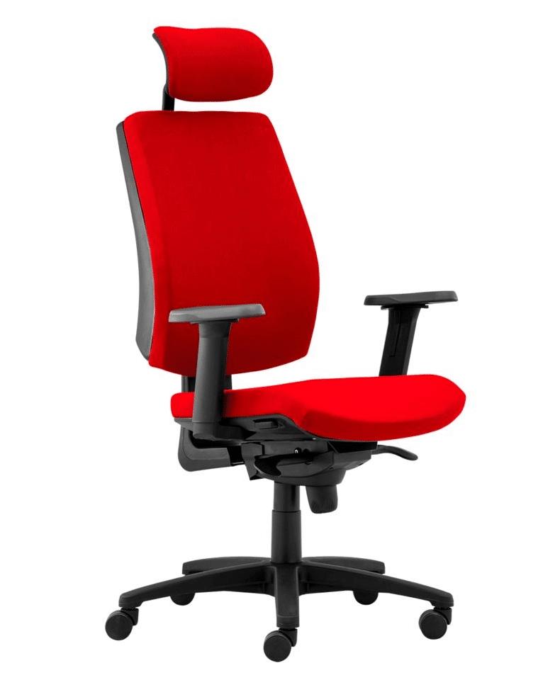 cadeira de escritória vermelha cabeça