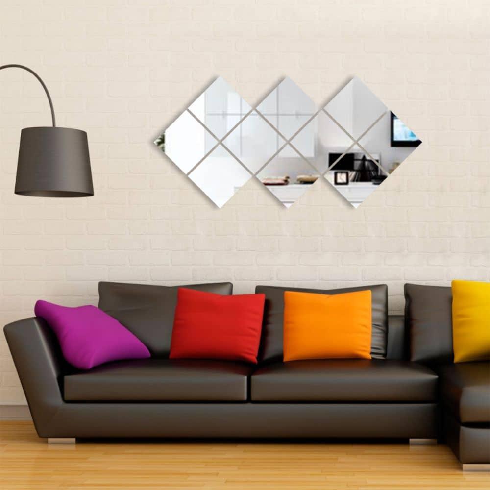 espelho decorativo geométrico