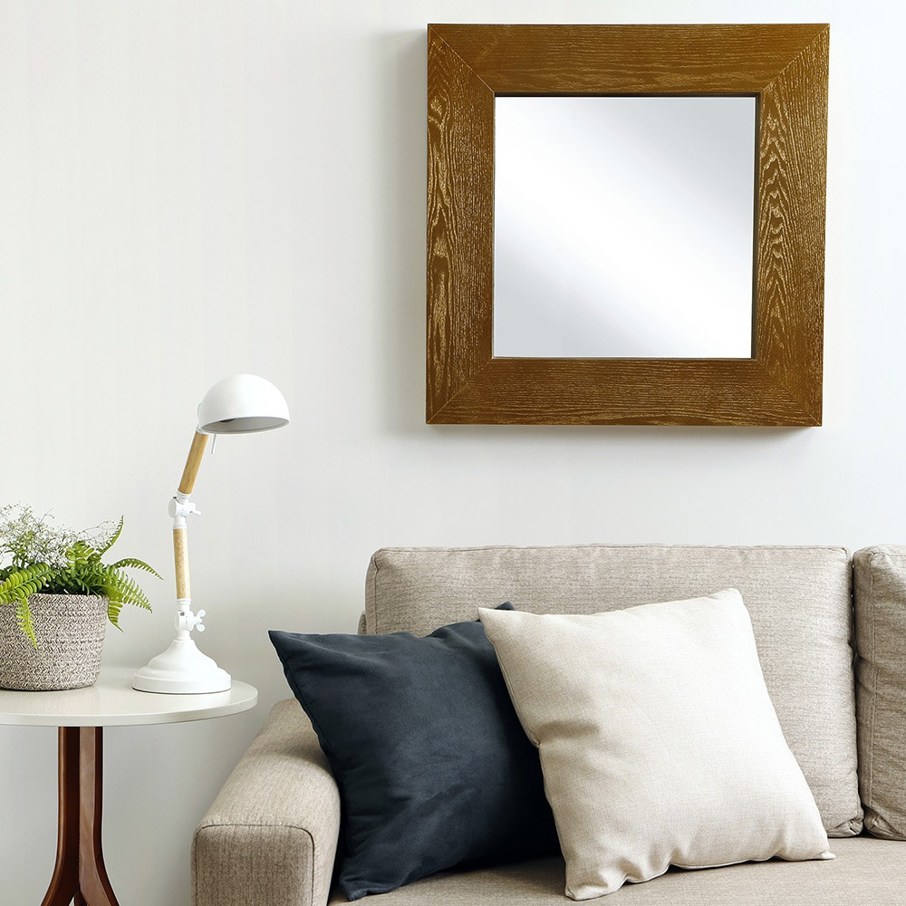espelho decorativo quadrado com moldura
