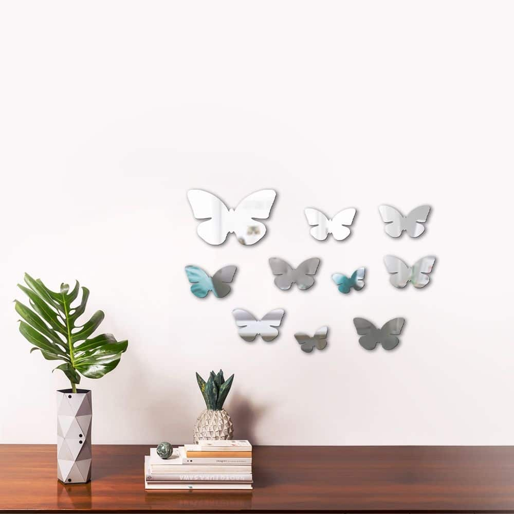 espelho decorativo de borboletas