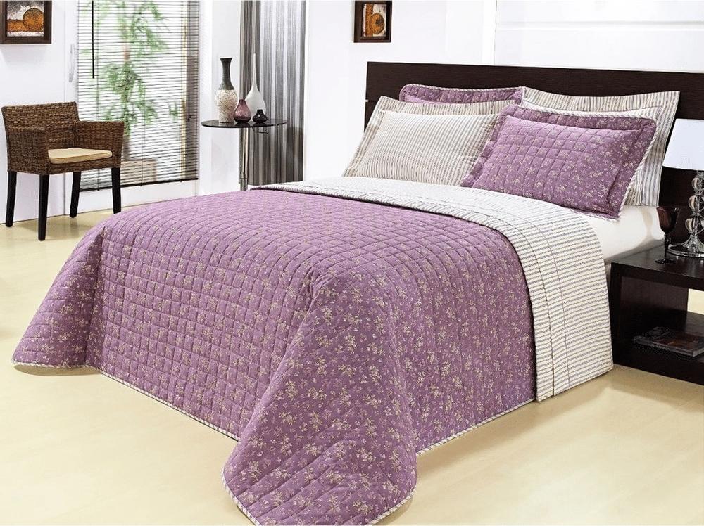 jogo de cama violeta