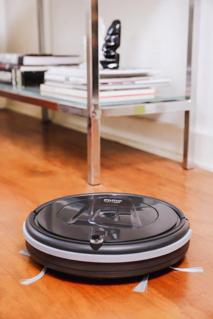 robô aspirador de pó tamanho