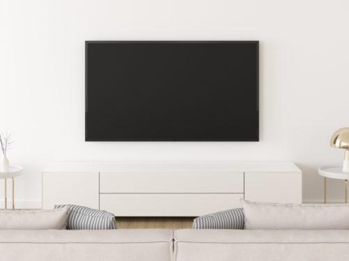 tamanho de tv