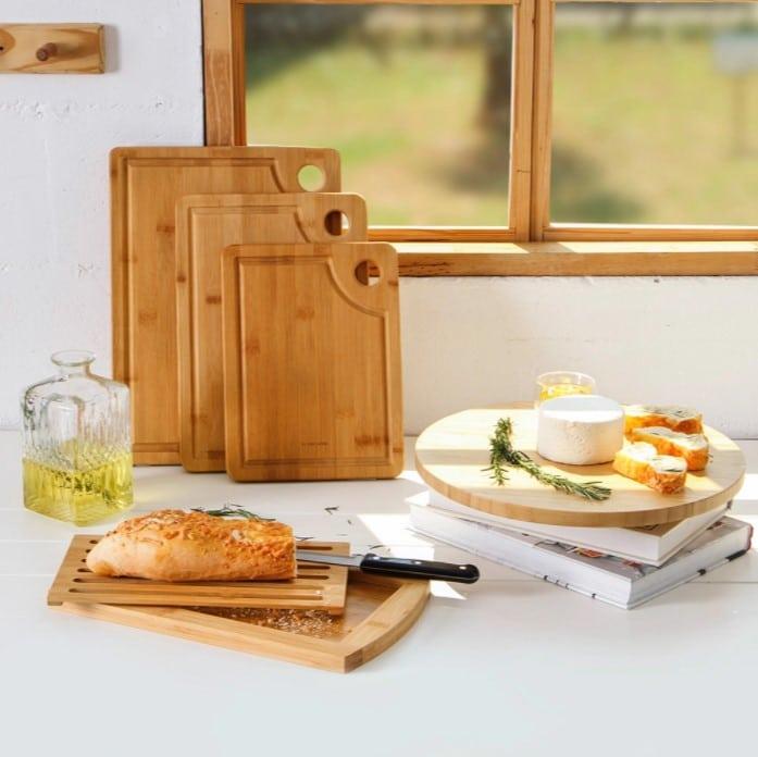 utensílios de cozinha de bambu