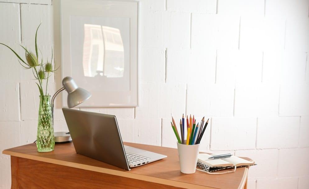 aparador na decoração do home office