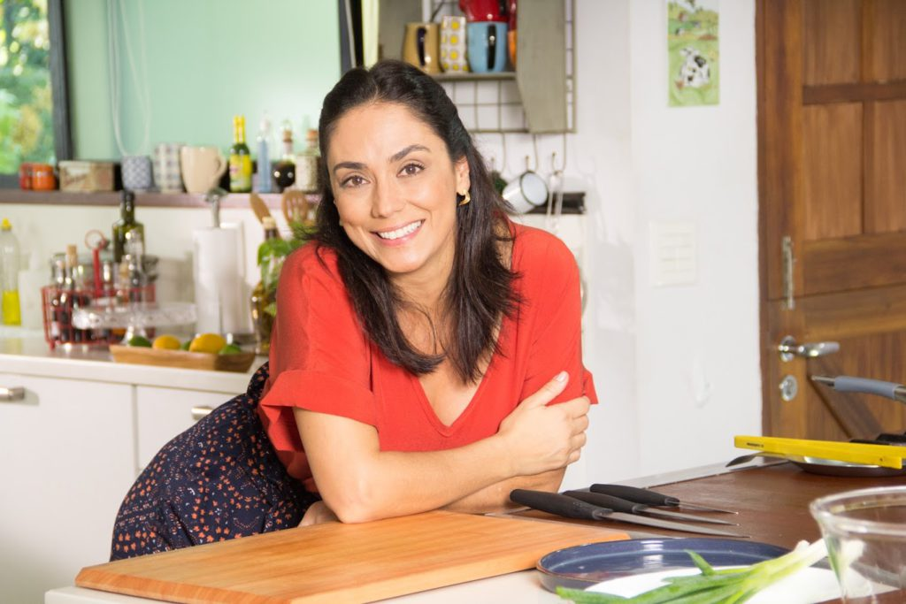 Flávia Bonato no programa Que Bom Que Você Veio