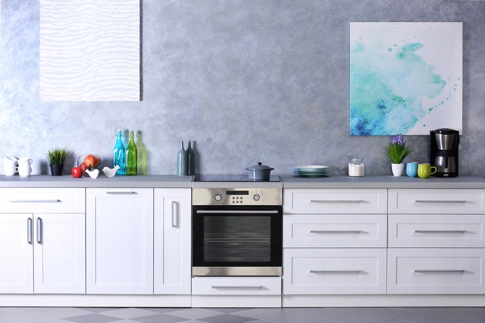 efeito de cimento queimado na cozinha
