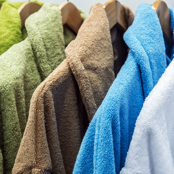 roupão de banho colorido