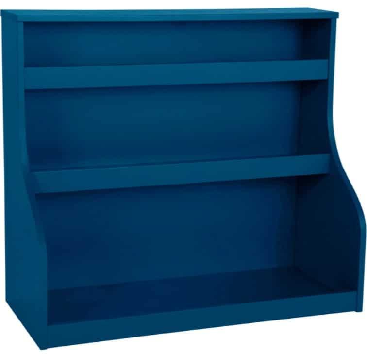 estante azul cores da primavera