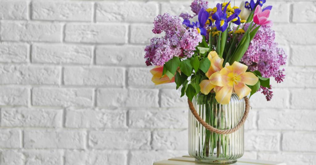 uso das flores na decoração de primavera
