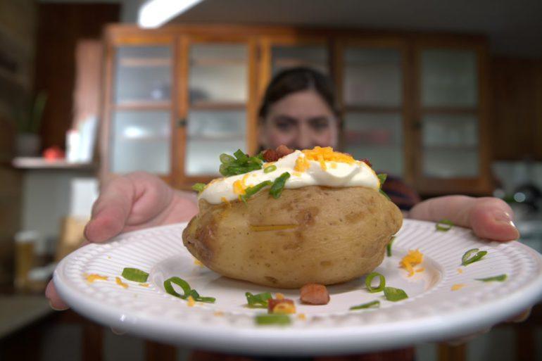 como fazer batata recheada