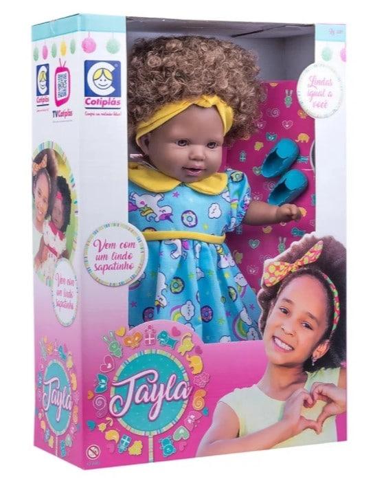 boneca bebê reborn negra tayla