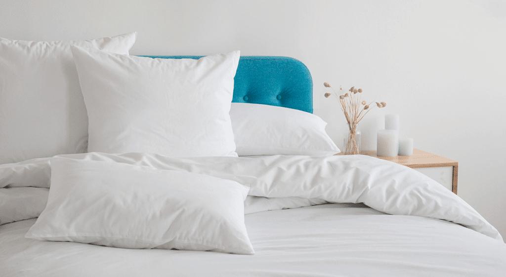 cama de casal com edredom 100% algodão branco