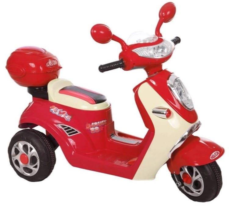 moto lambreta elétrica infantil vermelha