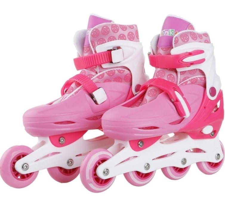 patins infantil 4 rodas in line rosa brink+